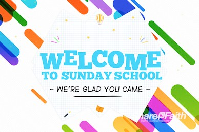 Sunday School Jelly Bean Welcome Motion Graphic