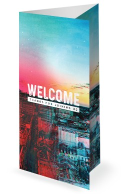 Love Your City Church Trifold Bulletin