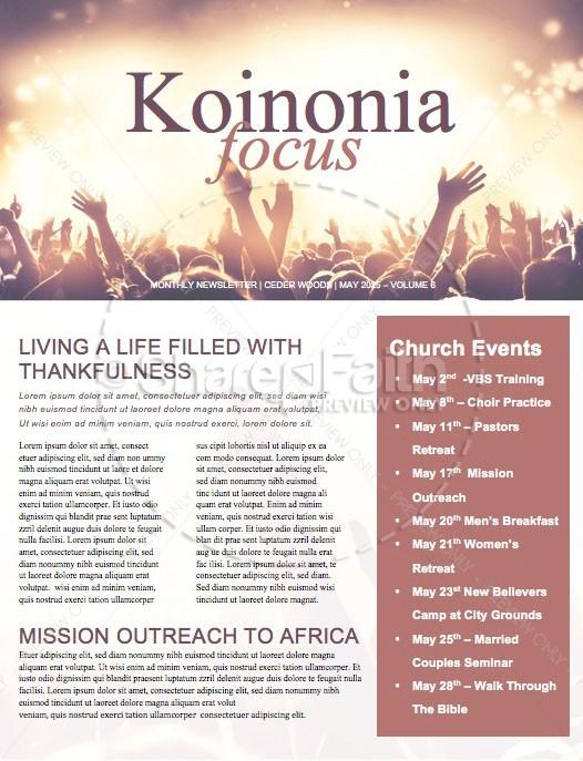 National Day of Prayer Worship Church Newsletter