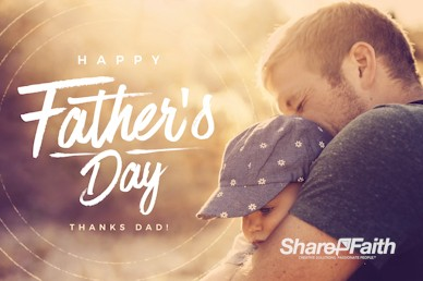 A Father's Love Father's Day Motion Graphic