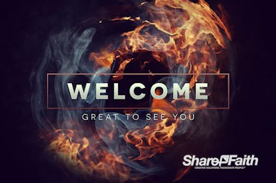 Tongues of Fire Pentecost Welcome Motion Graphic