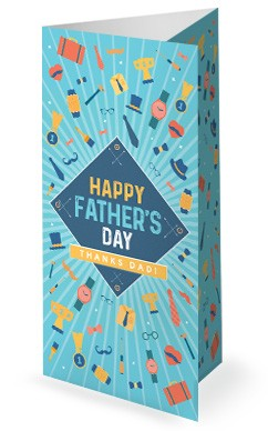 Happy Father's Day Church Trifold Bulletin