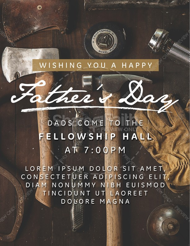 Working Dads Father's Day Church Flyer