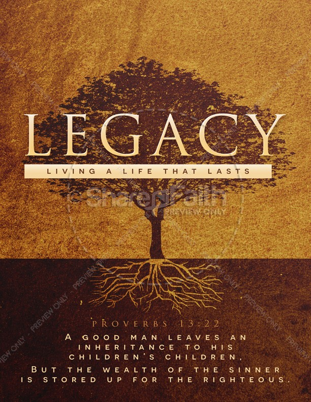 Leaving A Godly Legacy Church Flyer