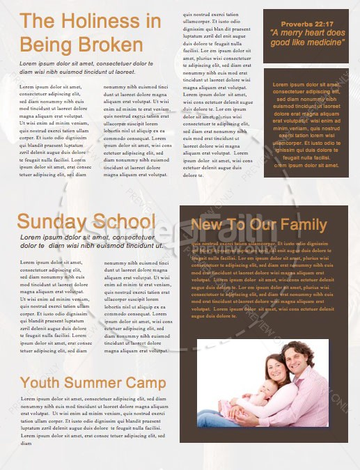 Working Dads Father's Day Church Newsletter