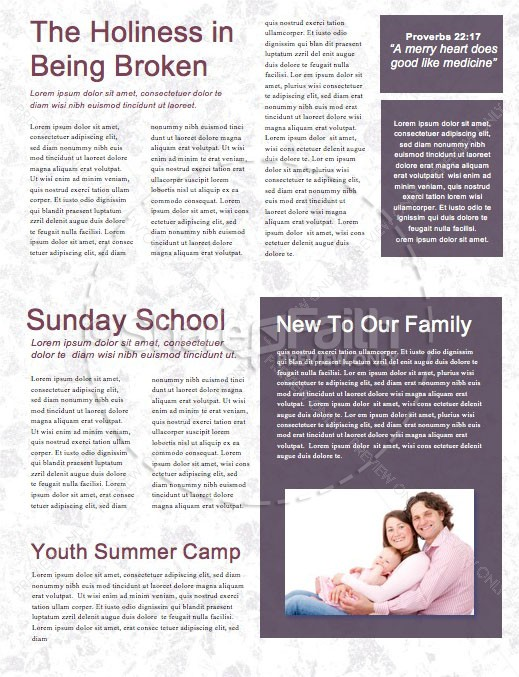 Let Your Yes Mean Yes Church Newsletter