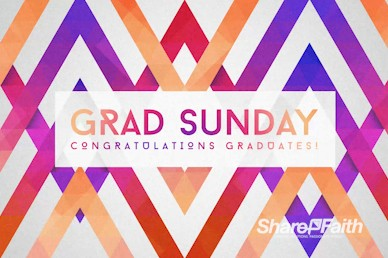 Graduation Sunday Church Motion Graphic