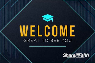 Graduation Sunday Welcome Church Motion Graphic