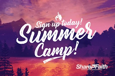 Church Summer Camp Motion Graphic