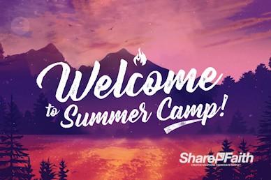 Church Summer Camp Welcome Motion Graphic