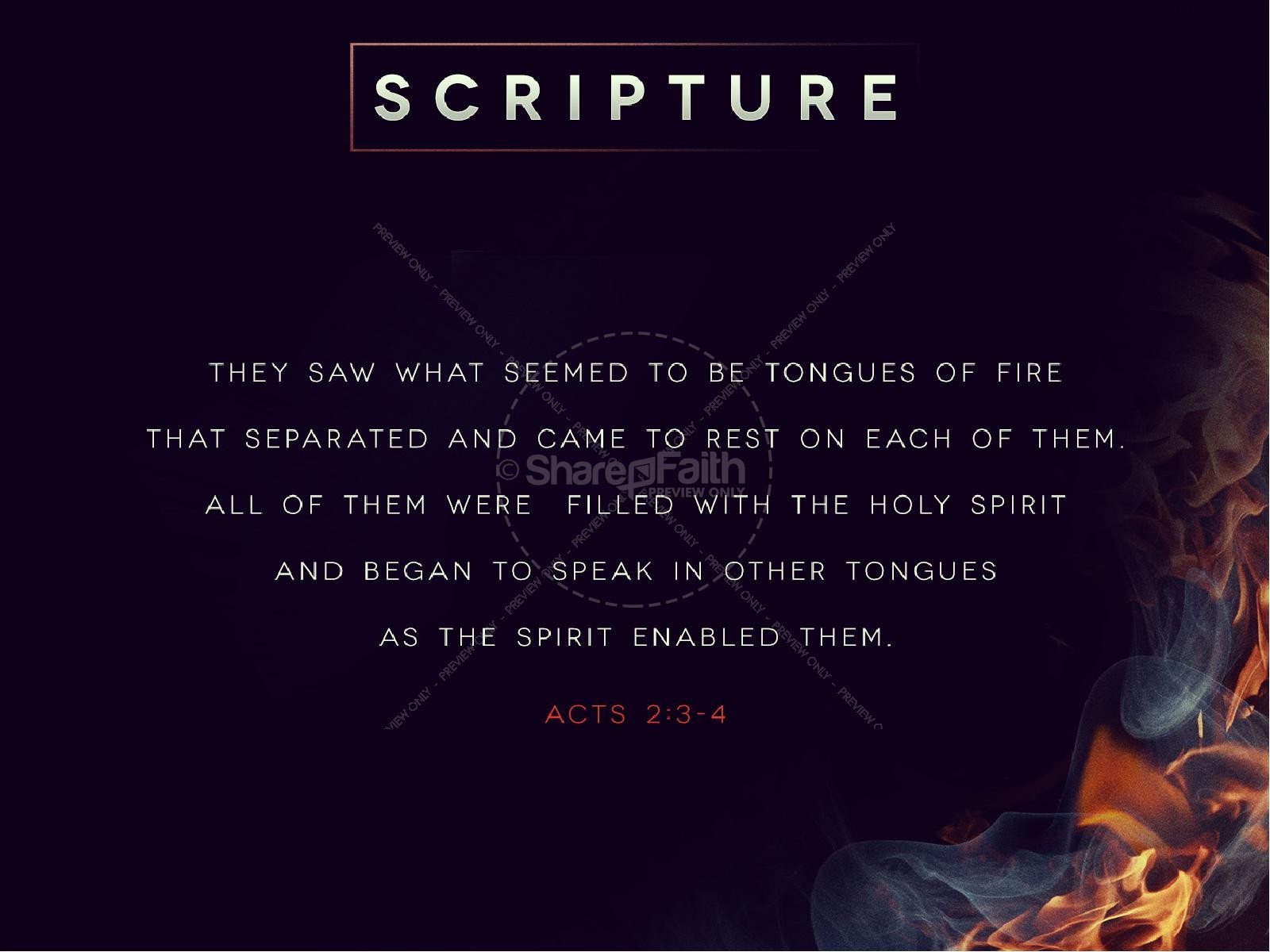 Tongues of Fire Pentecost Sermon PowerPoint