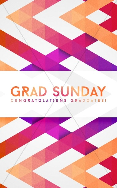 Graduation Sunday Sermon Bulletin