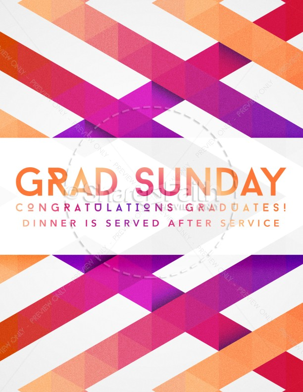 Graduation Sunday Church Flyer Template