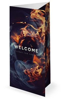 Tongues of Fire Pentecost Sermon Trifold Bulletin