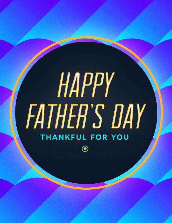 Father's Day Church Flyer Template