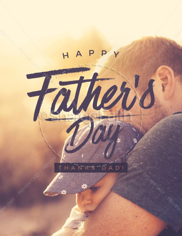 A Father's Love Church Father's Day Flyer