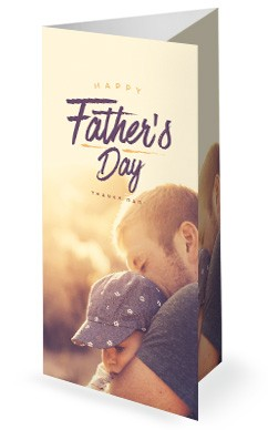 A Father's Love Church Father's Day Trifold Bulletin