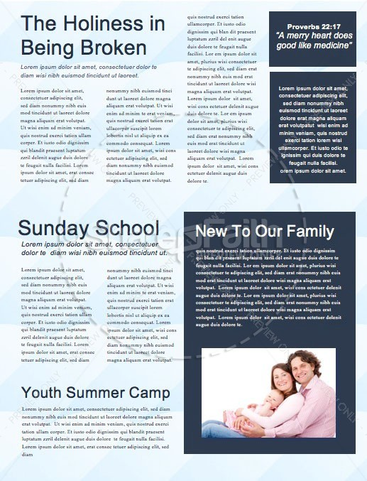 Father's Day Church Newsletter Template