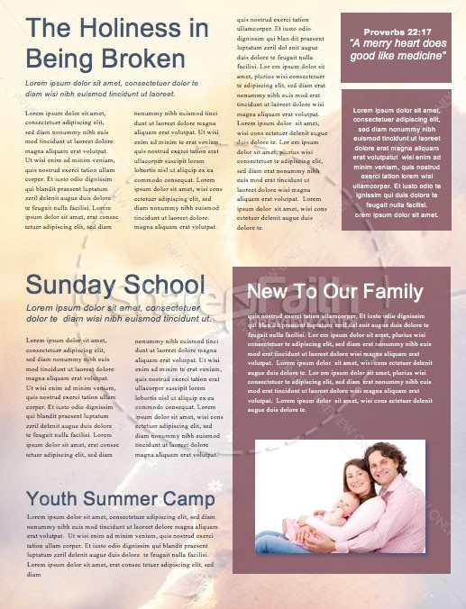 A Father's Love Church Father's Day Newsletter