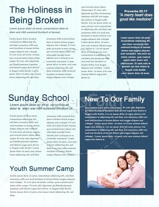 Graduation Sunday Church Newsletter Template