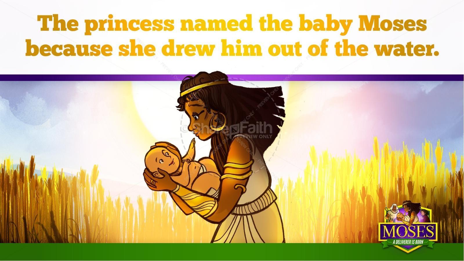 Exodus 2 Baby Moses Kids Bible Story | slide 36