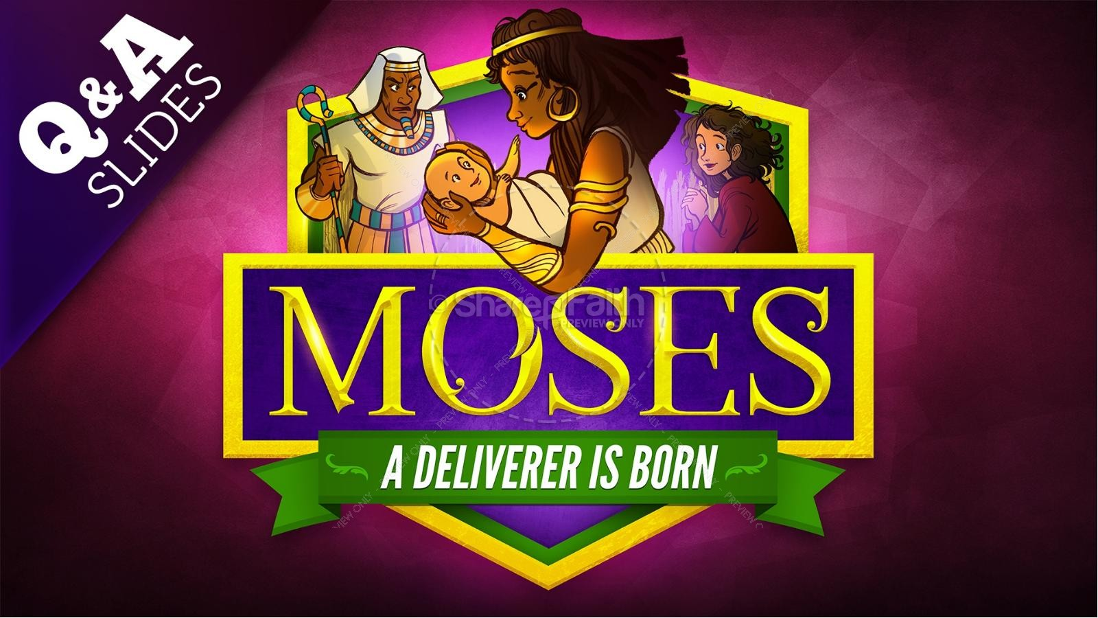 Exodus 2 Baby Moses Kids Bible Story | slide 9
