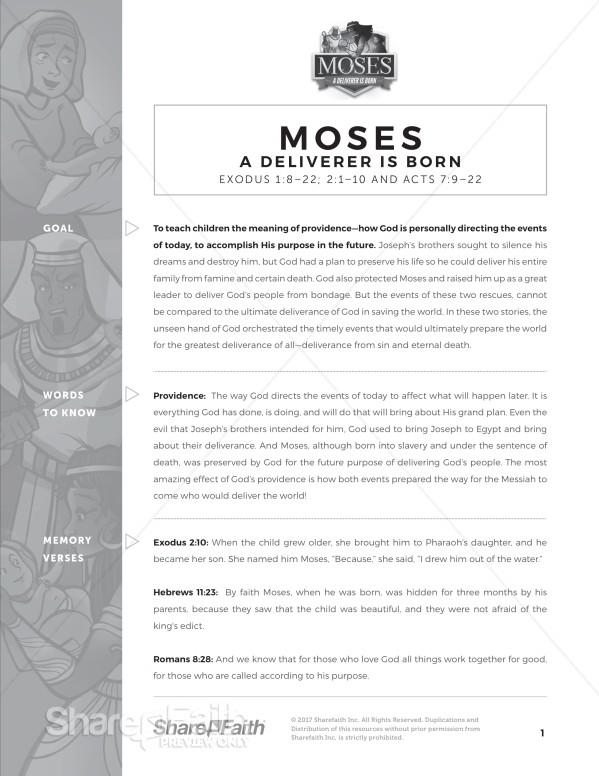 Exodus 2 Baby Moses Curriculum