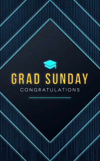 Graduation Sunday Church Bulletin Cover
