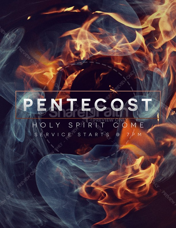 Tongues of Fire Pentecost Church Flyer