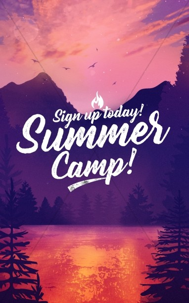 Church Summer Camp Bulletin