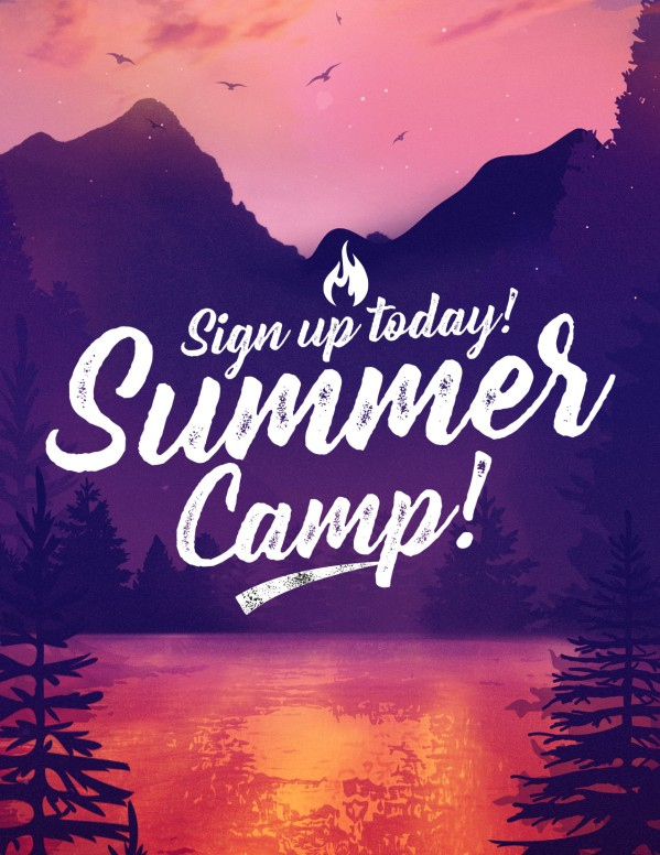 Church Summer Camp Flyer