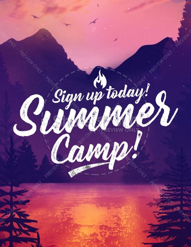 Church Summer Camp Flyer