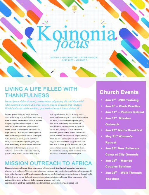 Sunday School Jelly Bean Children's Church Newsletter