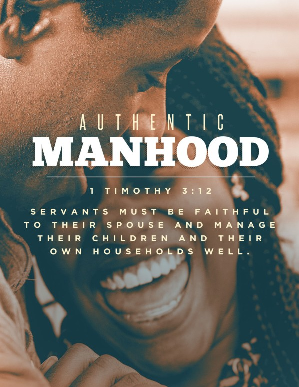 Authentic Manhood Church Flyer
