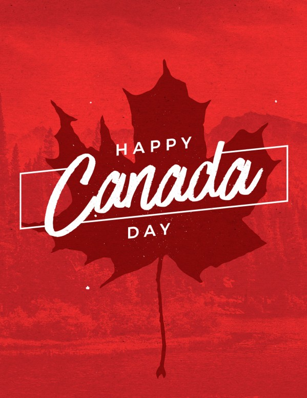 Canada Day Holiday Church Flyer
