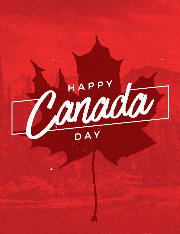 Canada Day Holiday Church Flyer