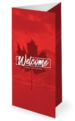 Canada Day Holiday Church Trifold Bulletin