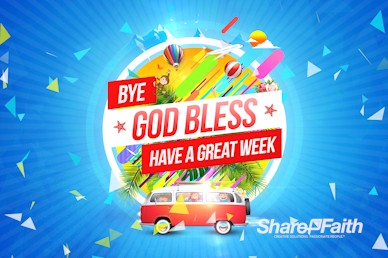 Church Vacation Bible School Goodbye Motion Graphic