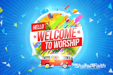 Church Vacation Bible School Welcome Motion Graphic