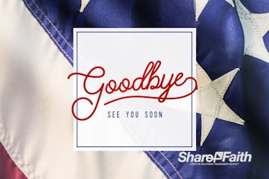 Celebrating the 4th of July Goodbye Motion Graphic