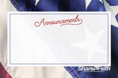 Celebrating the 4th of July Announcements Motion Graphic