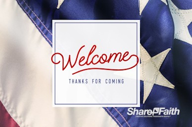 Celebrating the 4th of July Welcome Motion Graphic