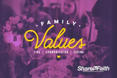 Family Values Church Motion Graphic