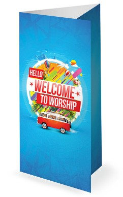 Church Vacation Bible School Trifold Bulletin