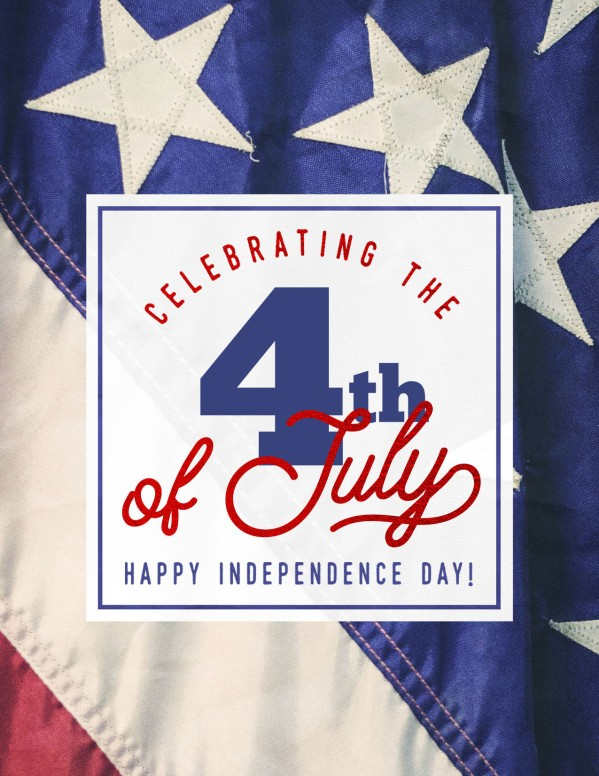 Celebrating the 4th of July Flyer Template
