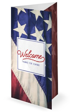 Celebrating the 4th of July Trifold Bulletin Cover