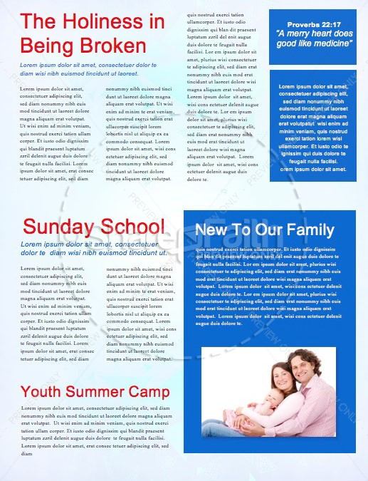 Church Vacation Bible School Newsletter