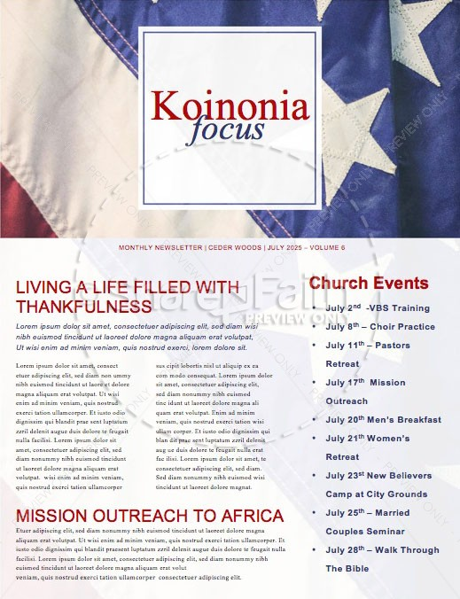 Celebrating the 4th of July Newsletter Template | page 1