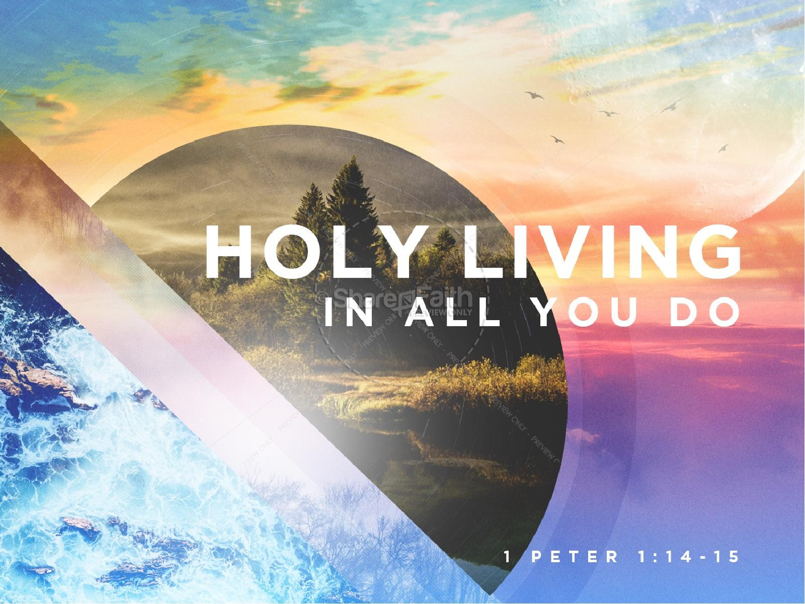 Holy Living Sermon Graphic Design