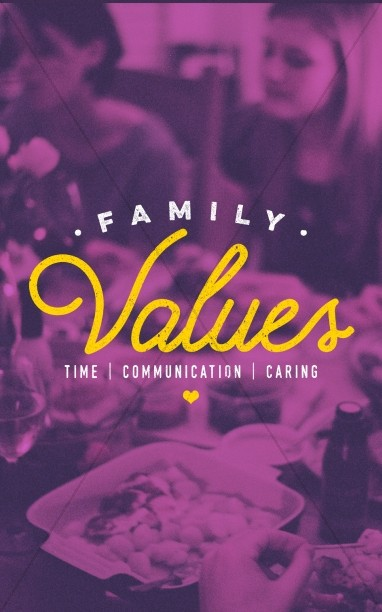 Family Values Sermon Bulletin Cover
